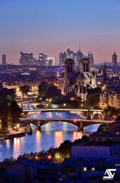 Notre-Dame, Grand Palais, La Défense, Paris, France