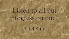 Listen to all but progress on one.