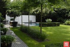 Anne Laansma - Pure simplicity in a modern garden with swimming pool - High ■ Exclusive . Back Gardens, Small Gardens, Outdoor Gardens, Modern Garden Design, Landscape Design, Backyard Ideas For Small Yards, Rooftop Garden, Garden Gazebo, Garden Pool