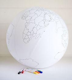 Colour-In Globe / Father Rabbit Ltd