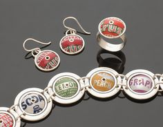 Beamer sterling silver & recycled bottle cap jewelry by Marc Williams Goldsmith