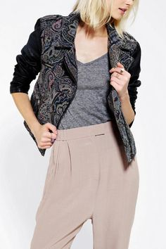 Love this: Ecote Tapestry Mix Moto Jacket on Hanna