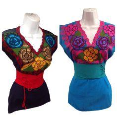 c05e2aa3df 14 mejores imágenes de Blusas y vestidos artesanales