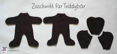 Kostenloses Schnittmuster Teddybär