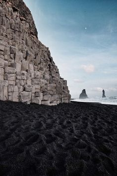 Black Sand Beach in Iceland - Reynisfjara just before sunset. [1184 x 1776]