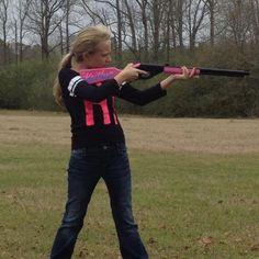 KAITLYN AND PINK BB-GUN