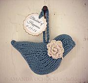 knitted bird