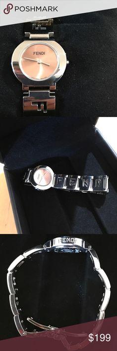 FENDI orologi WAtCH 💯% Authentic FENDI orologi sapphire crystal / Quartz / Registered model 3ATM 3050 L 056-559 / Swiss made / note no box  no trade Fendi Accessories Watches