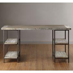 Renate Desk Computer Furniture Office Vintage Top Table Modern Workstation Home | eBay