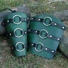 Berserker Leather Arm Bracers. $38.00, via Etsy.