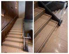 Sensitile Terrazzo interactive concrete floor tiles and stairs in Aria Convention Center Las Veags