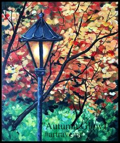 Pretty autumn painting