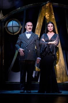 Samantha Womack, Les Dennis and Carrie Hope Fletcher star in The Addams Family, coming to The Marlowe Theatre, Canterbury, next month. Addams Family Broadway, Addams Family Tv Show, Addams Family Costumes, Adams Family, Theatre Nerds, Musical Theatre, Samantha Womack, Addams Family Wednesday, Carnival
