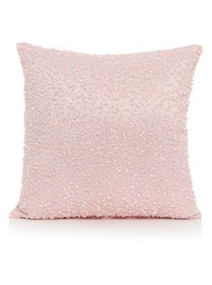 pink sequin cushion
