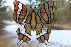 Sun catcher butterfly by Unikke Glas ~ All designs are the property of Unikke Glas, copyright protected, and not subject to use by any persons or entities outside of Unikke Glas.