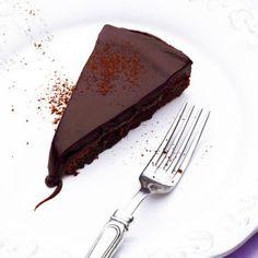 chokladfudgetårta Best Dessert Recipes, Fun Desserts, Vegan Recipes, Fika, No Bake Cake, Fudge, Tart, Cravings, Smoothies