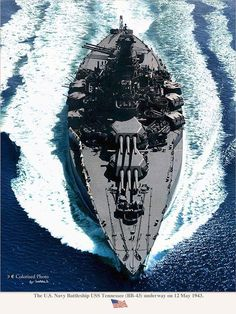 USS Tennessee under way in 1943.