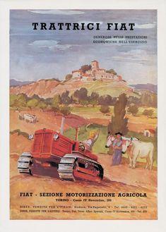 La pubblicità delle Trattrici Fiat in una immagine degli anni '40  Di Quaglino M.