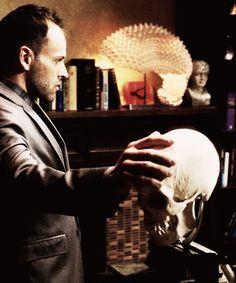 Sherlock and his skull. Fun times.