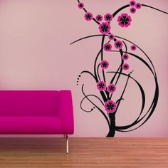 Vinilos Decorativos Flores de Color