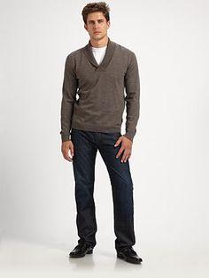 Wool Shawl Collar Sweater BOSS