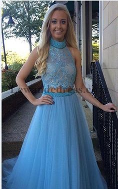 Light Blue 32347 Lace Beaded Layers Two Piece Pageant Prom Dress  Lewande  32347 Light Blue a70cdf0bc81f