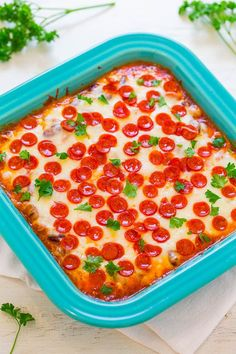 Pepperoni Pizza Baked Beans - Averie Cooks - MAXEAT - http://howto.hifow.com/pepperoni-pizza-baked-beans-averie-cooks-maxeat/