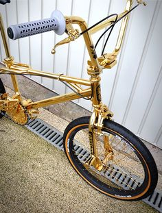 "Just because you need it! Golden #BMX Where would would you take this baby to ride? Find & share the best spots at https://www.facebook.com/youspots Also offering bespoke psychological coaching to overcome fear and anxiety, built existential resilience and boost performance through working on your ""inner game"". Get in touch for a free consultation"