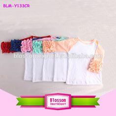 Source Wholesale baby girl blank raglan t shirts pattern customized pink icing ruffles children raglan kids cotton top on m.alibaba.com