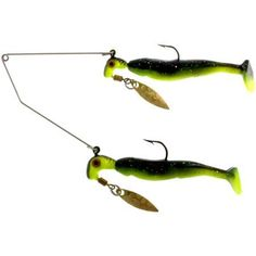 Blakemore Road Runner Bang Shad Buffet Rig, 1/4 oz, Black/Chartreuse, Multicolor