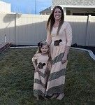 Maxi Dress Mommy - Peach w/Leopard only $18.99 at www.gabskia.com also like us on facebook  https://www.facebook.com/gabskiaccessories