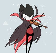 Grimm playing a majestic violin, such beauty. Game Character Design, Character Concept, Character Art, Concept Art, Grimm, Team Cherry, Hollow Night, Hollow Art, Knight Art