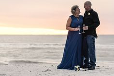 Larry & Tiffany eloped to Treasure Island and chose a non-traditional color scheme for their wedding to reflect their personalities!  #simpleweddingsflorida #beachweddings #destinationweddings