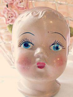 vintage doll head