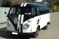 VW Bus black and white contrast