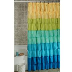 Luxury Colourful Shower Curtain