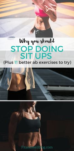 Exercise STOP DOING SIT UPS! They do more harm than good! Start doing these 11 ab exercises instead. - Do sit ups work? Or are they just ruining your back? Sit ups might not be the best way to work your abs, but I've got 11 ab exercises you need to try. Cable Workout, Best Ab Workout, Abs Workout Routines, Abs Workout For Women, Cardio Workouts, Ab Routine, Tummy Workout, Killer Ab Workouts, Effective Ab Workouts