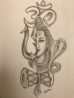 Art Discover Pencil sketch of Lord Shiva Pintura Ganesha, Arte Ganesha, Ganesha Sketch, Lord Shiva Sketch, Ganesha Drawing, Shiva Shakti, Shiva Art, Hindu Art, Mandala Art