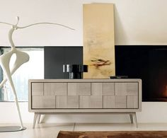 Modern sideboard. Gold and black sideboard. Luxury furniture ...