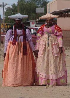 SAHARAN VIBE: HERERO LADIES OF NAMIBIA - AFRICA'S VICTORIAN STYLE FASHIONISTAS!