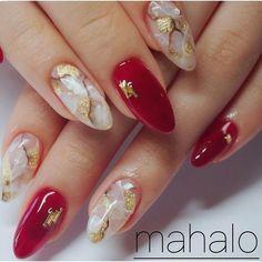 korean nail art 42 elegant nail art designs for prom 2019 33 42 elegant nail art designs for prom 2019 33 Asian Nail Art, Asian Nails, Korean Nail Art, Red Nail Art, Elegant Nail Art, Beautiful Nail Art, Nail Swag, New Year's Nails, Red Nails