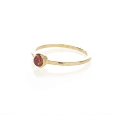 Dear Rae // Pink Tourmaline 9ct yellow gold ring
