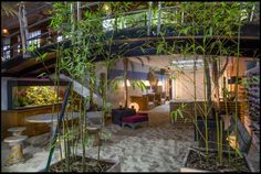 The beach room comes complete with sand and under-floor heating