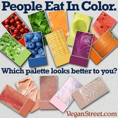 #foodmeme #foodfan #nutrition Plant foods represent every color of the rainbow. Meats are most just beige and brown. http://veganstreet.com Nutrition and recipes here: http://www.authority-nutrition.com