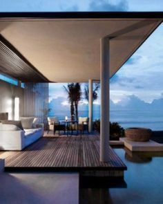 Ocean Pool Villas are like private complexes with a living area, separate daybed and pool. #Jetsetter