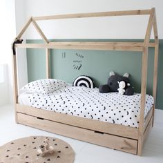 Manowoods is a new brand with handmade wooden decoration and toys. Toddler House Bed, Diy Toddler Bed, Boys Room Decor, Boy Room, Baby Room Design, House Beds, Big Girl Rooms, Kid Beds, Girls Bedroom