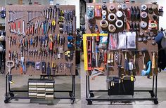 Moveable and usable: tool pegboards