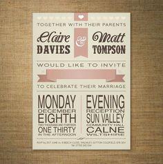 wedding invitation vintage