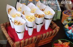 Popcorn cones!!!