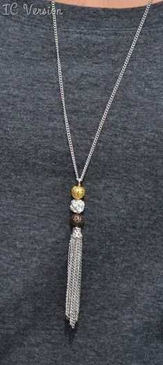 Mixed Metal Filigree Ball Necklace | Infarrantly Creative